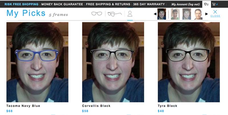 GlassesUSA Karlie Virtual Mirror My Picks