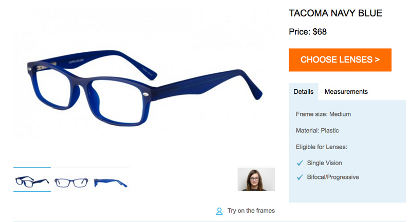 GlassesUSA Tacoma Navy Blue