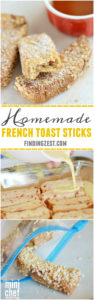 Homemade French Toast Sticks for the Freezer