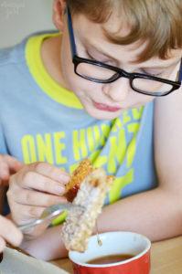 Kids Eating Homemade French Toast Sticks
