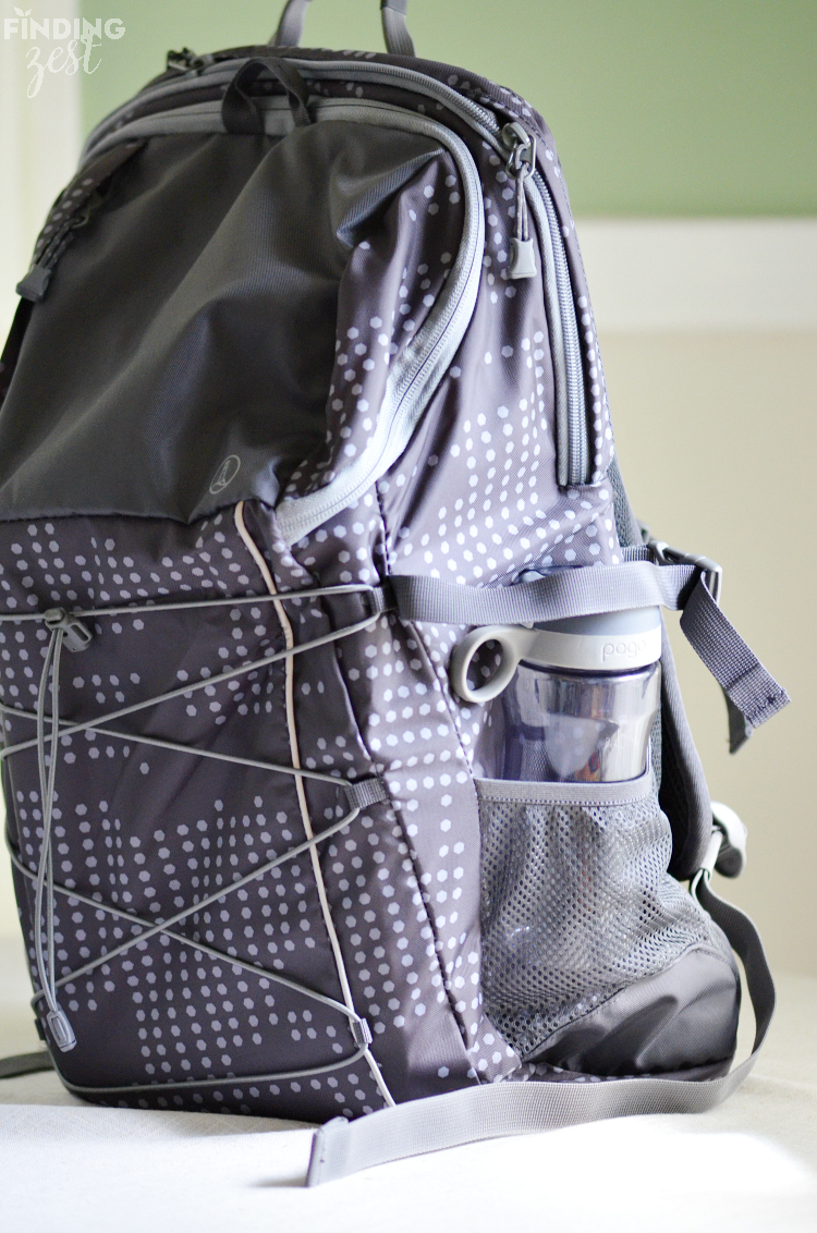 Lands End Backpack with Water Bottle