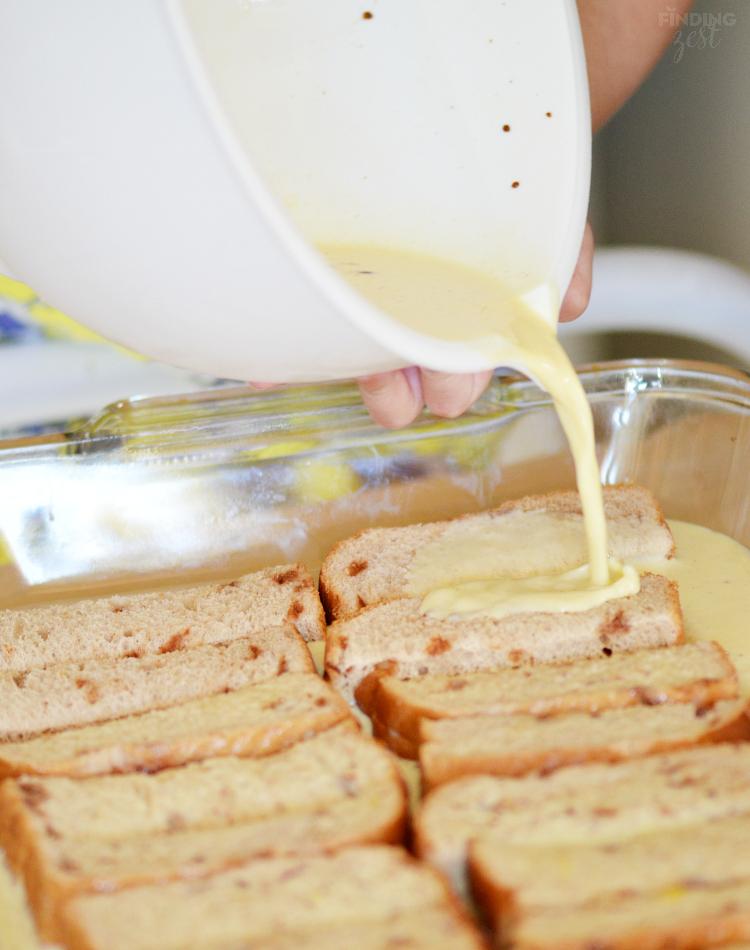 Making Baked French Toast Sticks