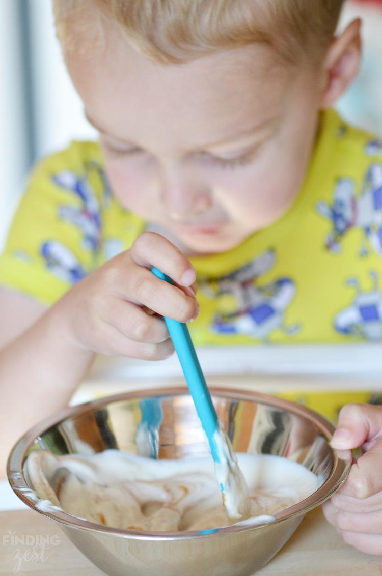 Stirring Cinnamon Yogurt Dip