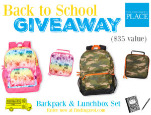 The Childrens Place Back to School Giveaway
