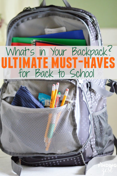 Whats in Your Backpack Ultimate Must Haves for Back to School