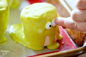 Adding Eyes to Halloween Monster Marshmallows
