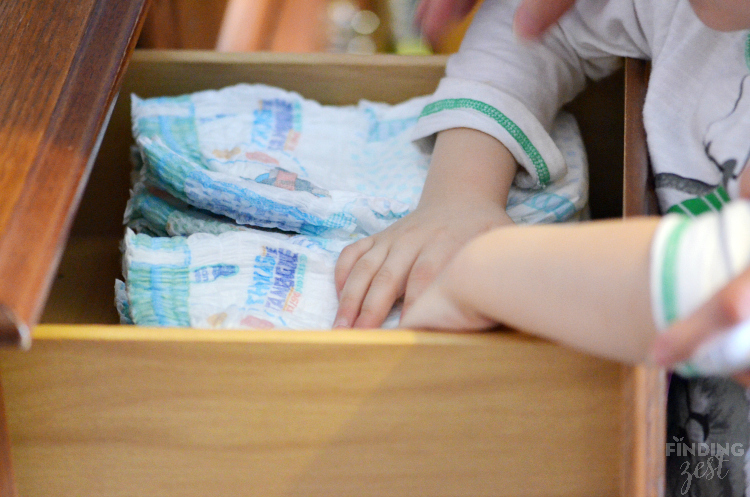 Adding Pampers Easy Ups to Underwear Drawer