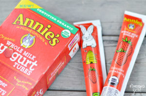 Annies Whole Milk Yogurt Tubes for School Lunch