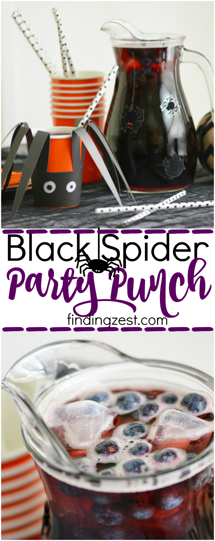 Black Spider Party Punch for Halloween