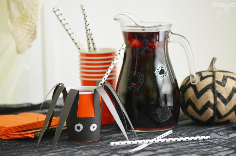 Black Spider Punch for Halloween