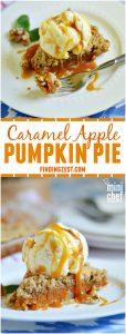 Caramel Apple Pumpkin Pie