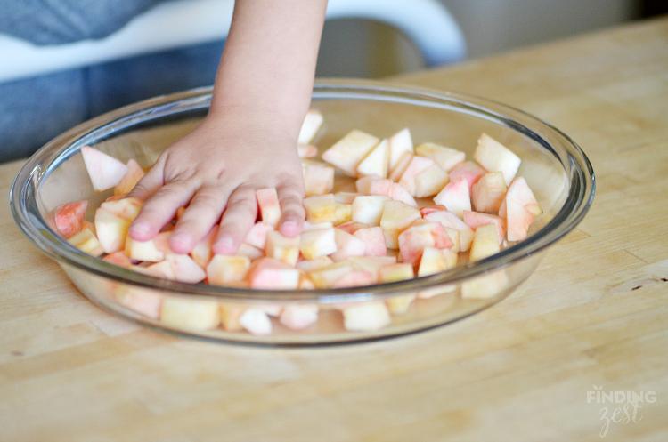 Chopped Apples for Apple Pumpkin Pie