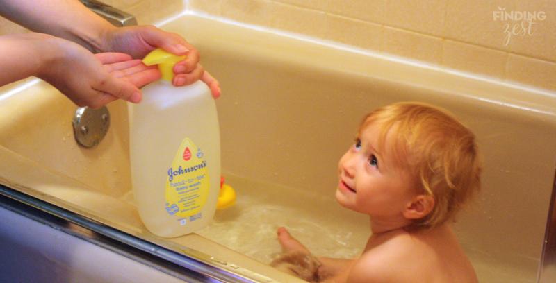 Johnson's lotion wash bath time ready