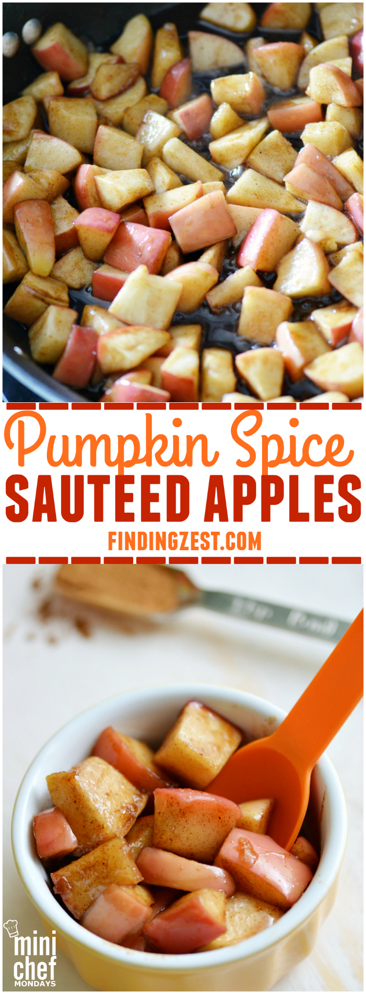Just 4 ingredients are needed to make these delicious Pumpkin Spice Sauteed Apples. Enjoy them for snack as is or as a topping for ice cream or pancakes!