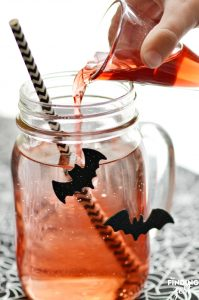 Adding Juice to Halloween Drink for Kids