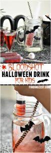 Healthy Bloodshot Halloween Drink for Kids