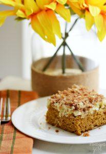 Homemade Pumpkin Cream Cheese Coffee Cake