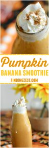 This kid friendly Pumpkin Banana Smoothie makes a deliciously easy and nutritious breakfast option!