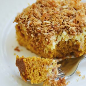 recipe: pumpkin cream cheese coffee cake [15]
