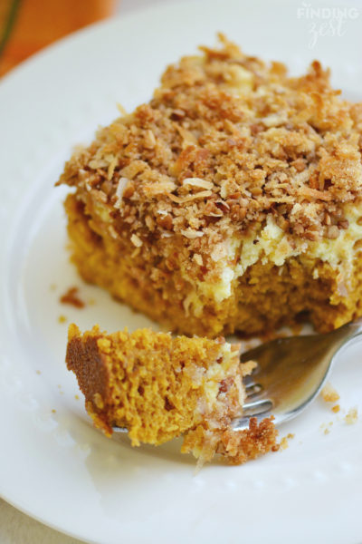 Pumpkin Cream Cheese Coffee Cake for Brunch