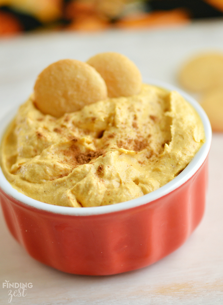 This pumpkin dessert dip can be prepared in only 5 minutes!
