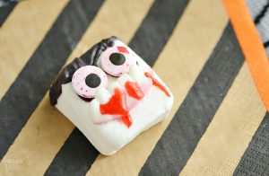 Silly Vampire Marshmallows for Halloween