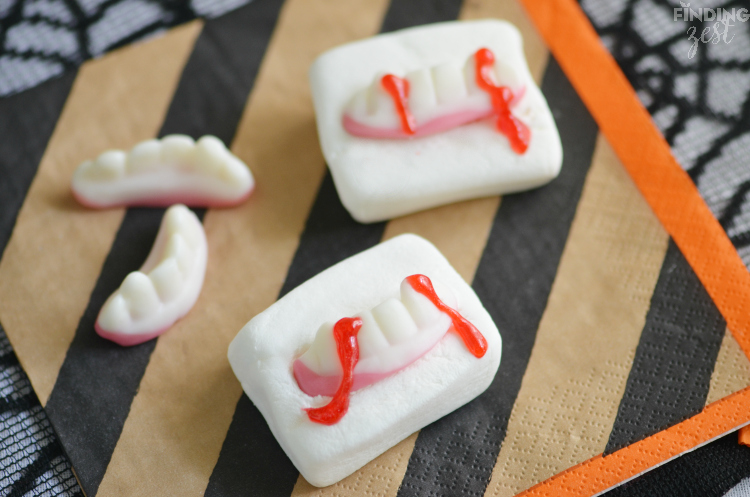 Vampire Fang Marshmallows