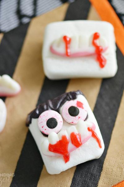 Vampire Marshmallows for Halloween