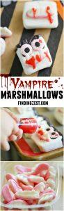 Vampire Marshmallows for Halloween Treats
