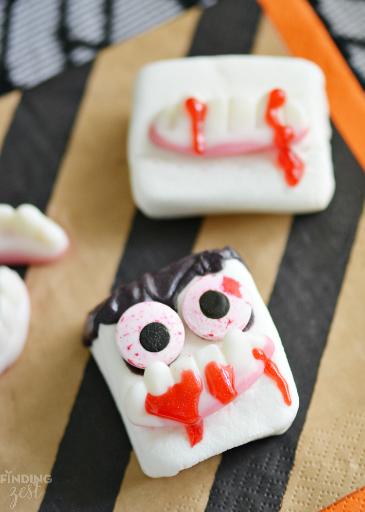 Vampire Marshmallows for Halloween