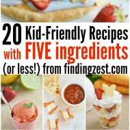 20 Kid Friendly Recipes with 5 Ingredients or Less + Giveaway