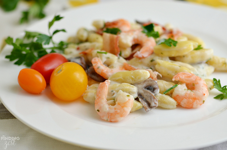 Creamy Shrimp and Garlic Pasta: A perfect weeknight recipe that can be on your table in under 30 mins!