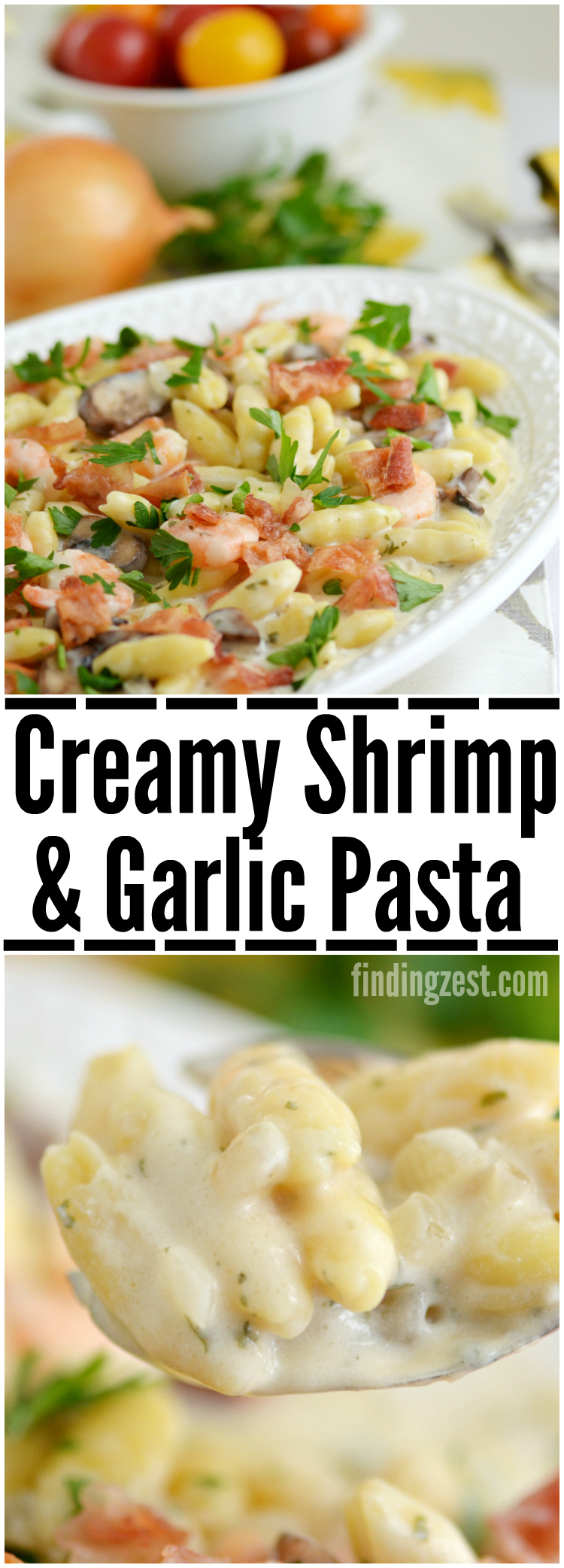 Creamy Shrimp and Garlic Pasta: A perfect weeknight recipe that can be on your table in under 30 minutes!