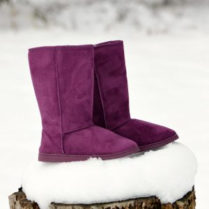 Pop of Color: DAWGS Women's 13-inch Microfiber Boots in Plum