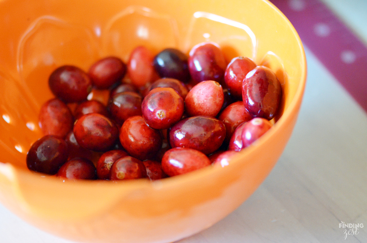 Orange Zest for Homemade Cranberry Orange Drop Biscuits
