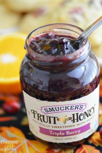 Smuckers Fruit and Honey Triple Berry Fruit Spread