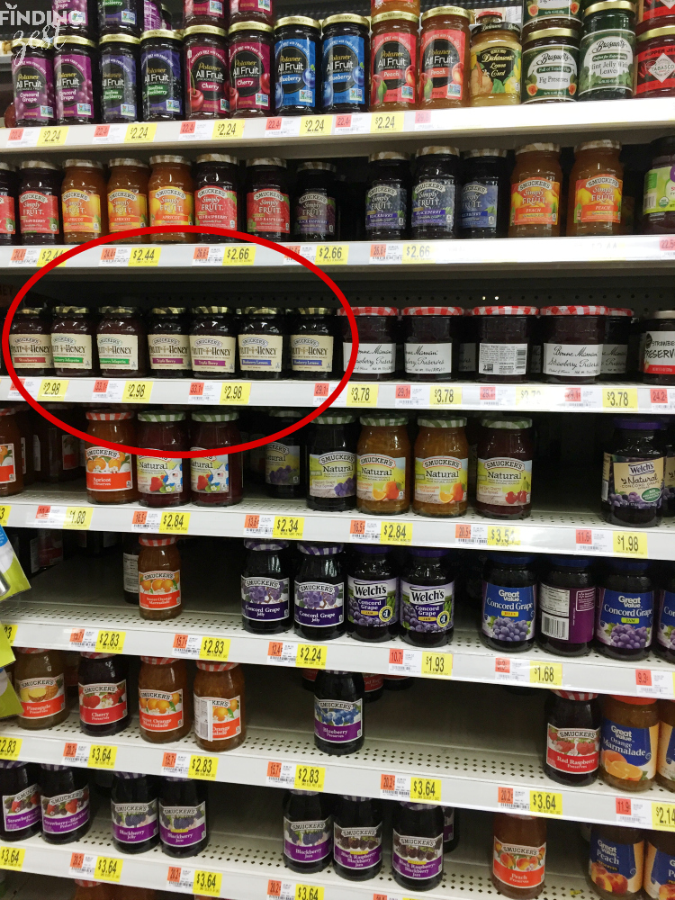Smuckers Fruit and Honey in Walmart
