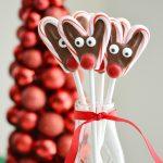 Candy Cane Reindeer Pops