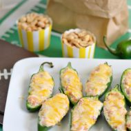 Easy Stuffed Jalapeno Poppers + Win the Crowd on Game Day Sweepstakes
