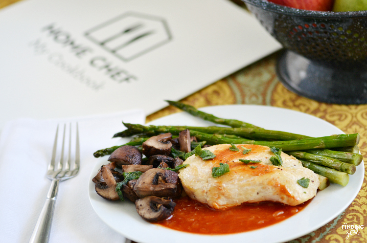 Enjoy delicious home cooked meals, made by you with ingredients and recipes shipped to you by Home Chef!