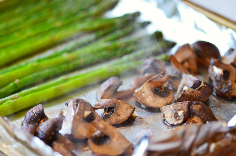 Home Chef Steaming Roasted Mushrooms - Finding Zest