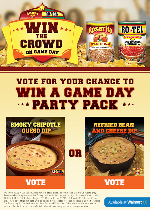 RoTel Rasarita Win a Game Day Party Pack