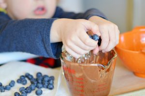 Make these easy Blueberry Chocolate Clusters as a fun dessert or snack! With only three ingredients, they are a perfect recipe for kid!