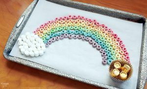 Edible Rainbow St Patricks Day Activity for Kids