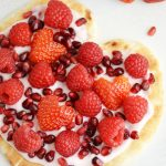 Yogurt Flatbread Pizza Heart