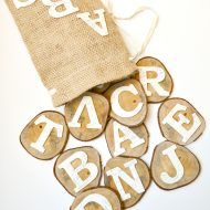 DIY Wood Alphabet Learning Slices