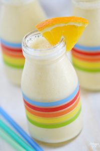 This refreshing orange pineapple yogurt smoothie is the perfect start to your day! Only 5 ingredients are needed for this kid-friendly tropical smoothie.