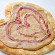 Peanut Butter and Jelly Heart Flatbread