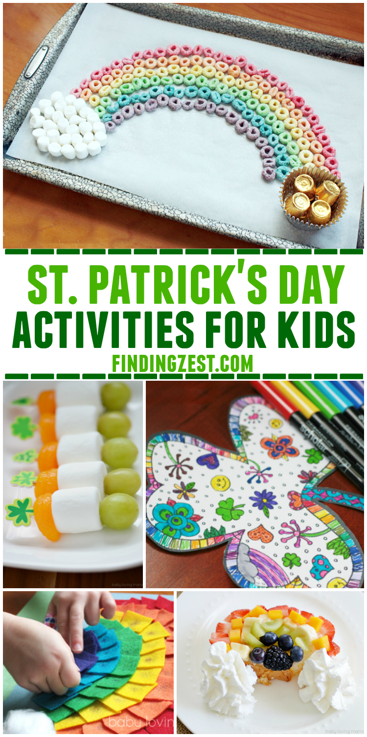 Give these easy and fun St. Patrick's Day Activities for Kids a try. From simple crafts to tasty treats, this list of St. Patrick Day Activities Kids are great ways to celebrate!