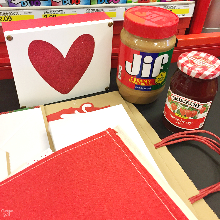Show someone you care with this Peanut Butter and Jelly Heart Flatbread! Serve with apple heart cutouts and cold milk for the perfect lunch on Valentine's Day, back to school or any time of year.
